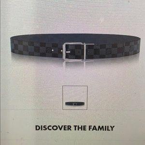 LV men's belt authentic